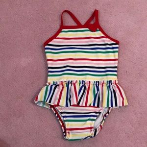 Hanna Andersson rainbow one piece swimsuit